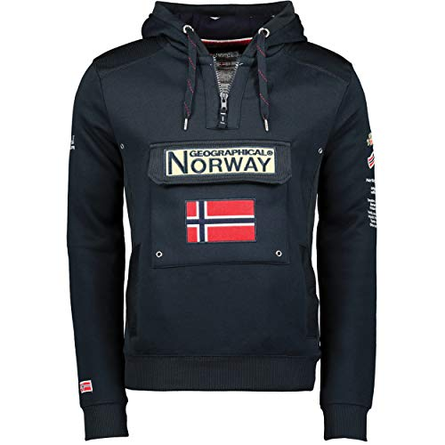 Geographical Norway - Gymclass ESS, Felpa da uomo Blu navy XL