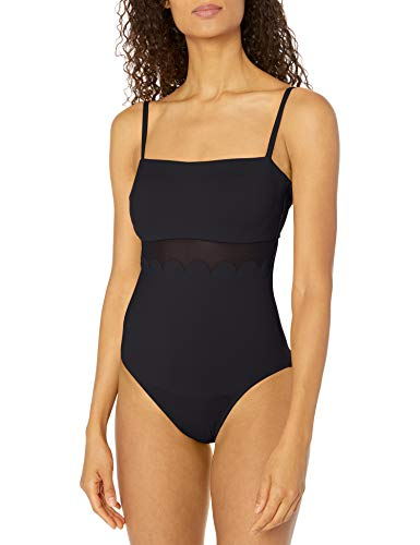 Seafolly Petal Edge DD Maillot bañadores, Negro (Black Black), 70DD (Talla del Fabricante: 10) para Mujer
