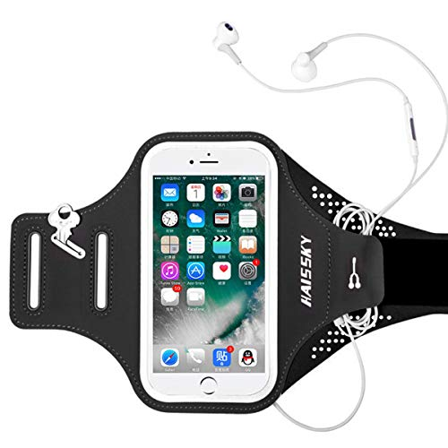 OhhGo Telefoon Armband Verstelbare Sport Telefoon Arm Case Houder Onder 6.5 Telefoon voor Hardlopen Wandelen Fietsen 17,8 x 48,5 cm