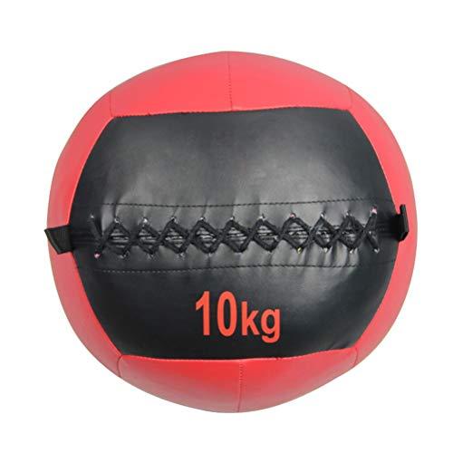 Balón AGYH Pelota Medicinal Soft Medicinal, Sólida Bola De La Aptitud De Cuero, Usada For Apretar Y Tirar De Squash, Cómodo Y Antideslizante, 4kg / 6 Kg / 8KG / 10KG (Size : 10KG)