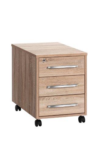 MAJA-Möbel 1716 5525 Rollcontainer, Sonoma-Eiche-Nachbildung, Abmessungen BxHxT: 43 x 59 x 65 cm