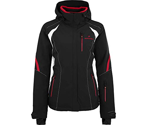 Bergson Damen Skijacke SNOWTASTIC, Black/Chinese red [9014], 38 - Damen