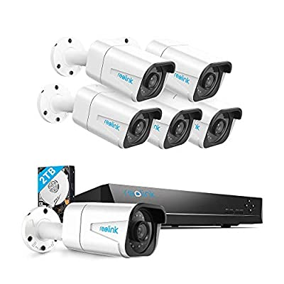 Reolink 4K PoE Home Security Camera System, 8 Channel NVR Recorder (2TB Hard Drive Built-in) and 3840 x 2160p Surveillance Bullet IP Camera Outdoor/Indoor with 100ft Long Night Vision
