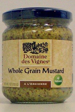 Domaine des Vignes Whole Grain Mustard 7 Oz. (Pack of 3)