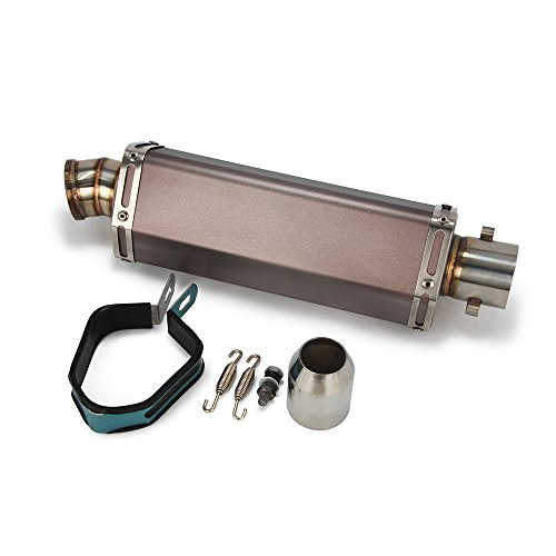 "Universal 1.5-2"" Inlet Hexagon Exhaust Muffler Pipe Slip On Scooter Motorcycle ATV Dirt Street Bike"