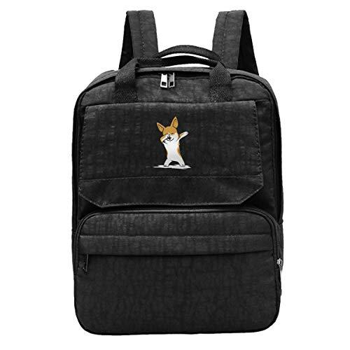 Dabbing Corgi Funny Backpack Personalized Laptop Ipad Tablet Travel School Daypacks Outdoor Sports Rucksack School Shoulder Bag For Men Women