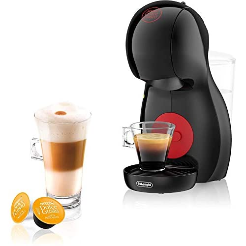 41jjUnuvVGL. SS500  - DeLonghi Nescafé Dolce Gusto Piccolo XS Pod Capsule Coffee Machine, Espresso, Cappuccino and more, EDG210.B, Black & Red
