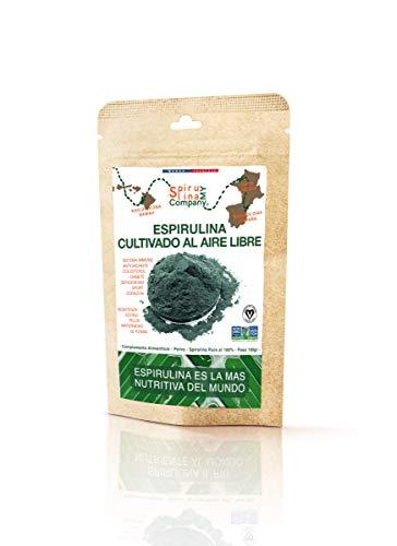 Espirulina Premium | Cultivado el Aire Libre | 100% Pura Spirulina | Vegano - Detox - Proteína Vegetal | Empaquete en Francia
