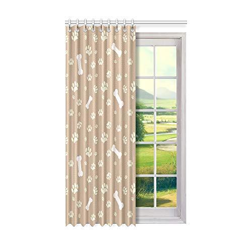 Rtosd Kinder Fenstervorhänge Mehrfarbige süße Hundepfote Innenfenster Vorhang 50 x 84 Zoll EIN Stück für Patio Glasschiebetür/Schlafzimmer
