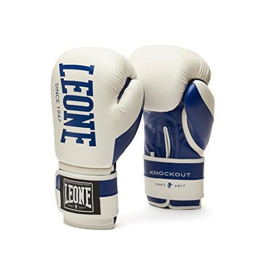 LEONE 1947– Knockout, Guantes Boxeo Unisex de Adulto, Unisex Adulto, Knockout, Bianco