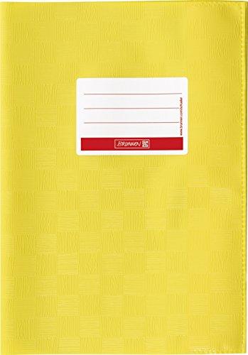 Brunnen 104052510 Hefthülle / Heftumschlag (A5, Folie, mit Namensschild) gelb