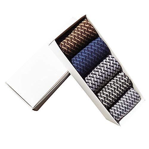 5 pares de calcetines de bambú para hombre, antibacterianos, cómodos desodorantes, transpirables, casuales