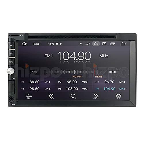 Android 10 Quad Core 7 Pollici 2 Din 1 + 16 GB Lettore DVD Navigatore GPS Universale Stereo Autoradio Bluetooth 4.0 USB SD Play Store WIFI SWC
