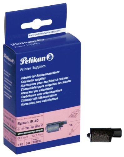 Pelikan Farbrolle Gruppe 744 Ink Roll für Epson IR 40, 8 x 12.3 mm, schwarz