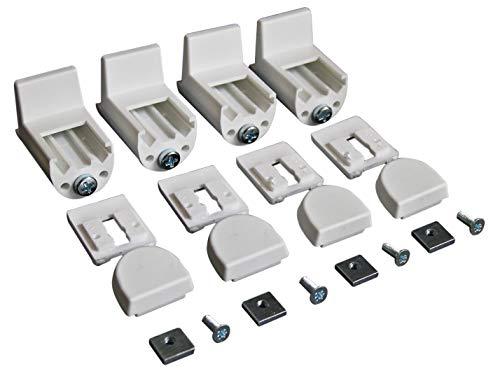 ps FASTFIX-Klemmträger für Plissees (4 Stück) - Montage ohne Bohren direkt auf dem Fensterflügel Ihres PVC-/Kunststofffensters