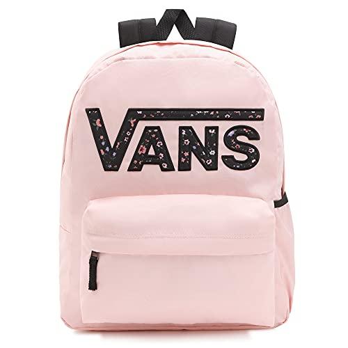 Vans Realm Flying V Backpack, Mochila para Mujer, Polvo Rosa, Talla única