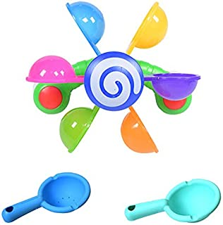 Baby Bath Toys Windmill Waterwheel Toddler Bathroom Bathtub Bathing Toy, Logic Game and Brainteaser Kid Intelligence IQ Br...