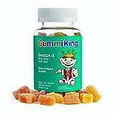 Gummi King DHA Omega-3 Supplement, Lemon/Orange/Strawberry, 60 Count