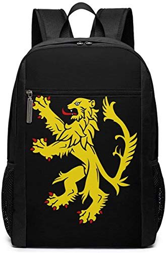 Golden Corn Travel Laptop Bag Fashion Bookbag Computer Business Backpacks-Lion Rampant