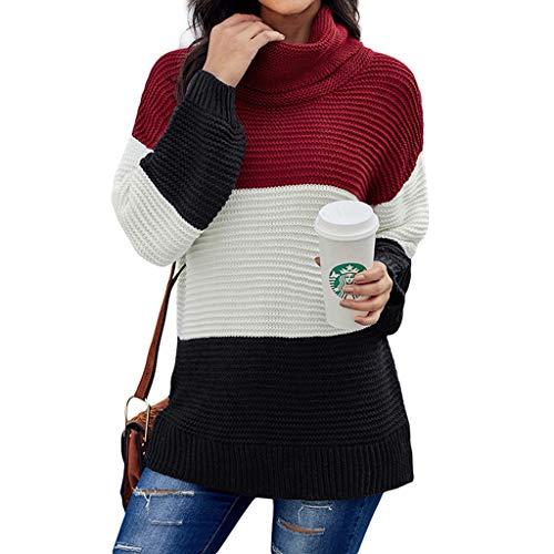 Dames winterjas warm gebreide jas rolkraag gebreide jas trui gebreide lange mouwen Solid sweatshirt pullover tops blouse shirt