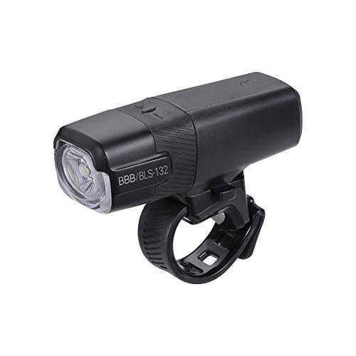 BBB Fahrradlicht Strike 1000 USB wiederaufladbarer Frontscheinwerfer | MTB Urban Road 400 Lumen BLS-132, Schwarz