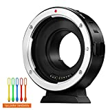 VILTROX EF-M1 AF Auto Focus Lens Mount Adapter with Aperture Control, EXIF Transmission Lens Converter Compatible for Canon EF / EF-S Lens to M4/3 Olympus and Panasonic Cameras