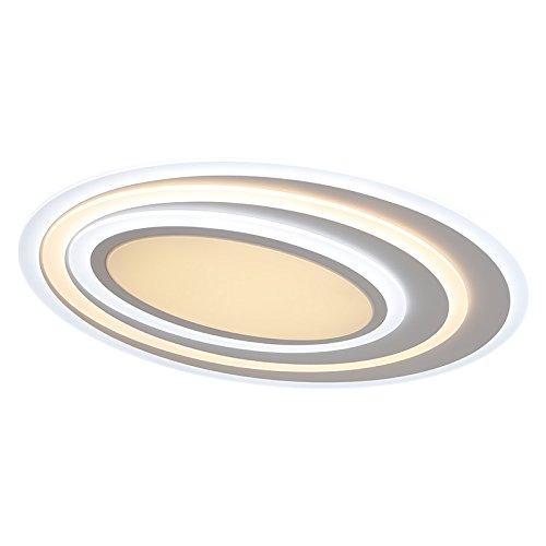 Euroton–Lámpara LED de techo xw092WJ con mando a distancia Luz/brillo ajustable acrílico de pantalla Color blanco lacado marco de metal diseño original, clase de eficiencia energética: A +