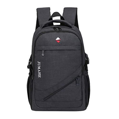 DOFENG Damen Oxford Geschäft Laptop Rucksack Handtaschen Schulrucksack Schultaschen Daypack Schulrucksack Tagesrucksack Umhängetasche Reiserucksack für Schule Reise Arbeit (Schwarz, One Size)