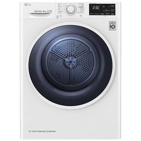 LG RC80U2AV4D asciugatrice Libera installazione Caricamento frontale Bianco 8 kg A+++