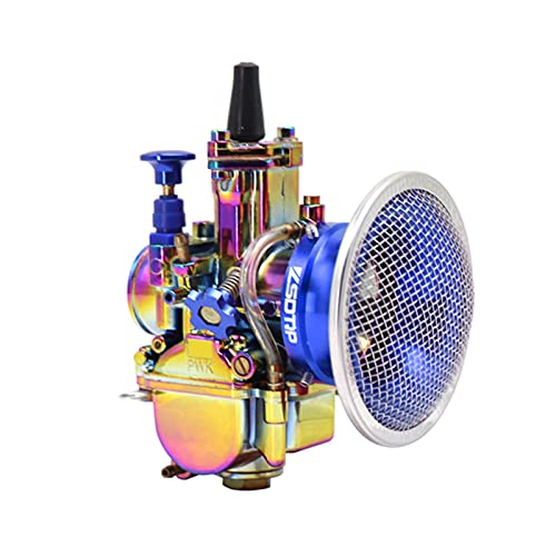 TLYA Vistoso Carburador, Motocicleta 2 / 4T Motor Scooters Dirt Bike ATV 21 24 26 28 3 0mm con 50mm de Filtro de Aire de Carreras Piezas de Combustible para Motocicletas (Color : 26mm Blue)