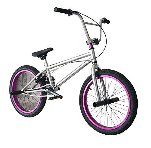 TX Pruebas De Bicicleta De Montaña Deporte Extremo Frenos De Disco 20 Pulgadas Deporte Al Aire Libre Monturas Plateadas De Color Púrpura