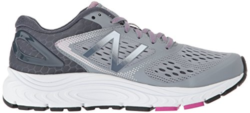 New Balance Women's 840 V4 Running Shoe, Light Grey, 8 D US 6