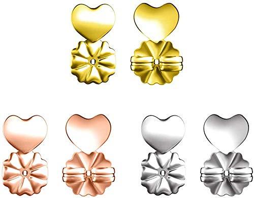 Magic BAX Earring Backs Lifters, 3 Pares de elevadores de Pendiente hipoalergénicos Ajustables para Todos los Pendientes de Poste