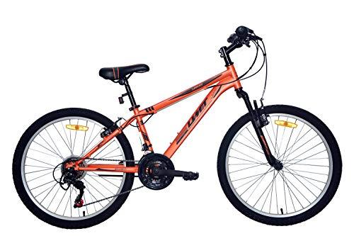 Umit Bicicleta 24 Pulgadas XR-240 Naranja, Partir de 9 años, con Cambio Shimano y Suspension Delantera, Unisex niños