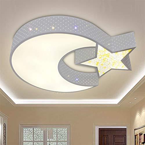 Vinteen Habitación para niños creativos LED Lámparas de Techo de atenuación Medio Ambiente para niños y niñas Dibujos Animados/Dimmable LED Luna Luna de Techo, 680 mm [Clase de energía A ++]