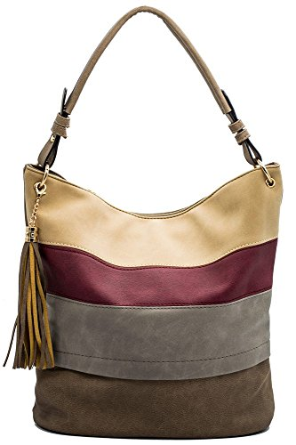 Price comparison product image Handbags for women totes Hobo Shoulder Bags Tassels Stripes Top Handle Bags