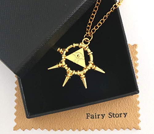 【Fairy Story】 遊戯王 千年 リング アイテム 遊☆戯☆王 モチーフ コスプレ ミニ ネックレス? 【クロス&ギフト箱セット】