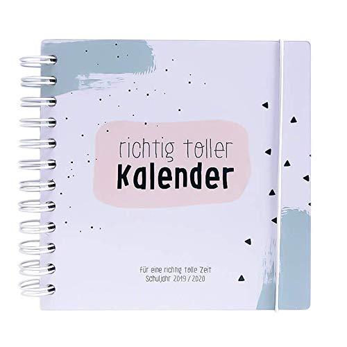 Odernichtoderdoch Schülerkalender 2019/2020   Richtig toller Kalender   16,5 x 16,5 cm - Ringbindung - 160 Seiten - mit Gummiband
