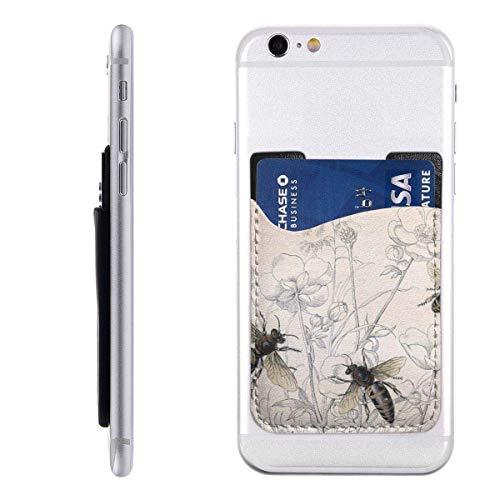 Inner-shop Mobiele kaart Portemonnee Portemonnee, Pocket ID Credit Card SleeveBees Vintage Honing Bee Insect Bug Buggy Pollen