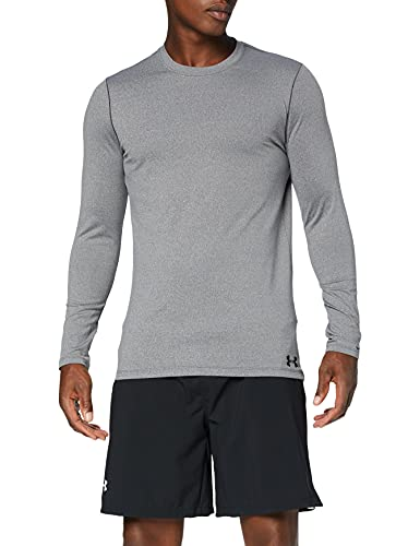 Under Armour Équipage CG T-Shirt Manches Longues Homme, Charcoal Light Heather/Black (019), FR (Taille Fabricant : XS)
