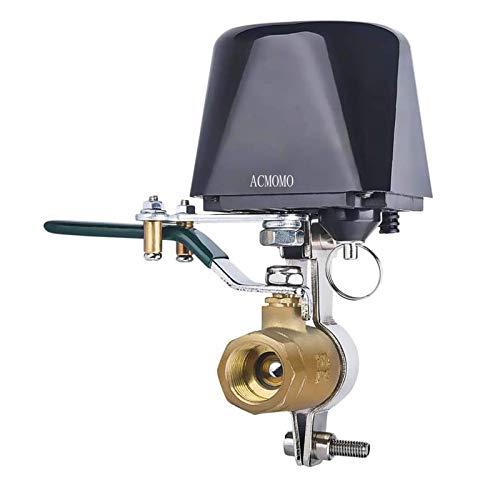 Válvula de agua/gas compatible con Alexa/Google Assistant, mando a distancia con WiFi, válvula de control de automatización para regulador de agua de gas, manipulador de válvula de 4 puntos 1/2