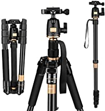 AFAITH Tripod for DSLR Camera, Ultra Compact and Lightweight Aluminum Travel Tripod with 360 Panorama Ball Head Quick Release Plate for Canon, Nikon, Sony, Samsung, Olympus, Panasonic