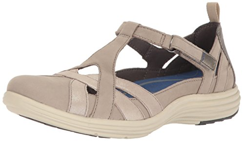 Aravon Women's Beaumont Fisherman Sandal, Stone, 10 Wide