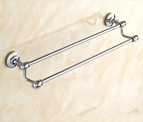 Toallero de barra de baño, barra doble de cobre, pared de baño antiguo europeo (tamaño : 50 cm)