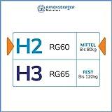 Ravensberger Matratzen Latex Oeko TEX 100 7-Zonen-Komfort | H2 RG 60 (45-80 kg) | Made IN Germany - 10 Jahre Garantie | Baumwoll-Doppeltuch-Bezug | 90 x 200 cm - 3