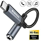 NIMASO Adaptador USB C a Jack 3.5 mm,Tipo C a Jack Auriculares Audio Adaptador Chipset DAC Compatible con Pixel 3/2 XL,Huawei P40/P30/P20 Pro,Mate10/20 Pro,Sumsung S20/S20 Ultra/Note10,Xiaomi 6/8