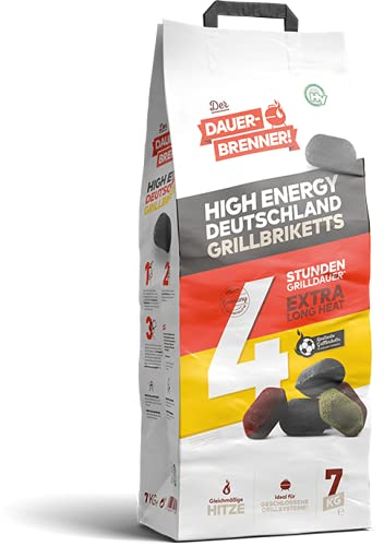 Energie Kienbacher 7-28kg Dauerbrenner Grillbrikett *Deutschland Edition*SONDERAKTION* Premium Grill Briketts Kohle Lange Brenn-& Glutdauer | 100% Made in Germany (14)