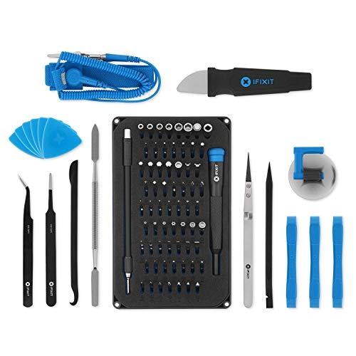 iFixit Pro Tech Toolkit, Werkzeug-Set mit Öffnungs-Werkzeug & Präzisions-Schraubendreher und 64 Bits (4 mm), zur Reparatur von Smartphone, Laptop & Co