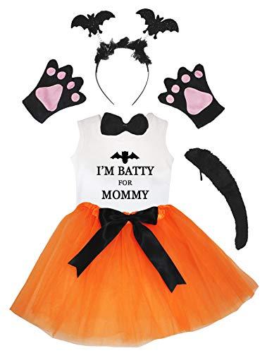 Petitebelle Batty For Mommy, 1-2 aos) - Disfraz de tut naranja (6 piezas, 1-8 aos)