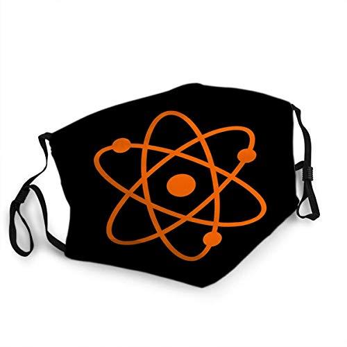 Wiederverwendbarer Gesichtsschutz Mundschutz Atomzeichen Orange Icon Old Phosphor Monitor Crt